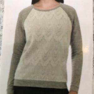 NWT Adrienne Vittadini Sweat Shirt Gray XL
